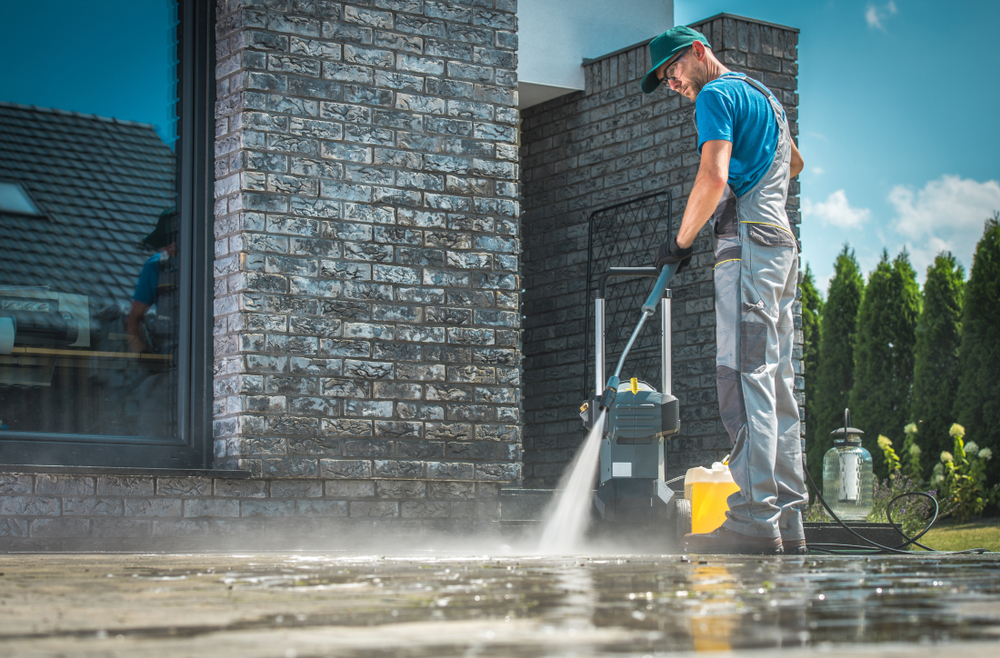 A pressure washer is most commonly used in cleaning wide areas