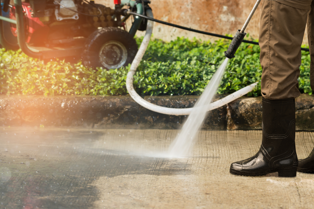 Pressure washers are strong enough to wash away dirt, molds, and mildew